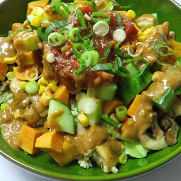 vegan bulgur salade