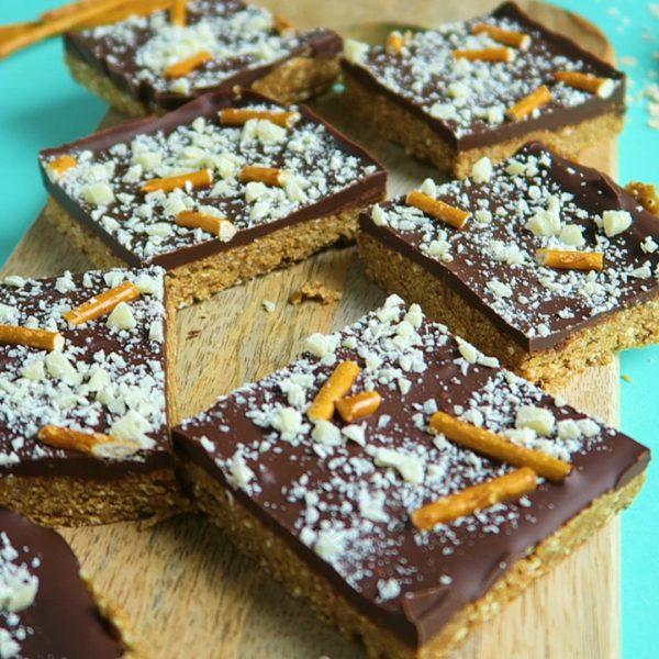 vegan chocolade pretzels