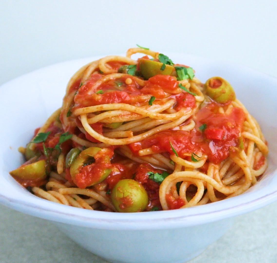 vegan spaghetti puttanesca