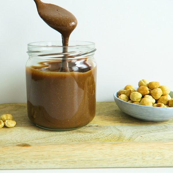 vegan chocolade hazelnotenpasta