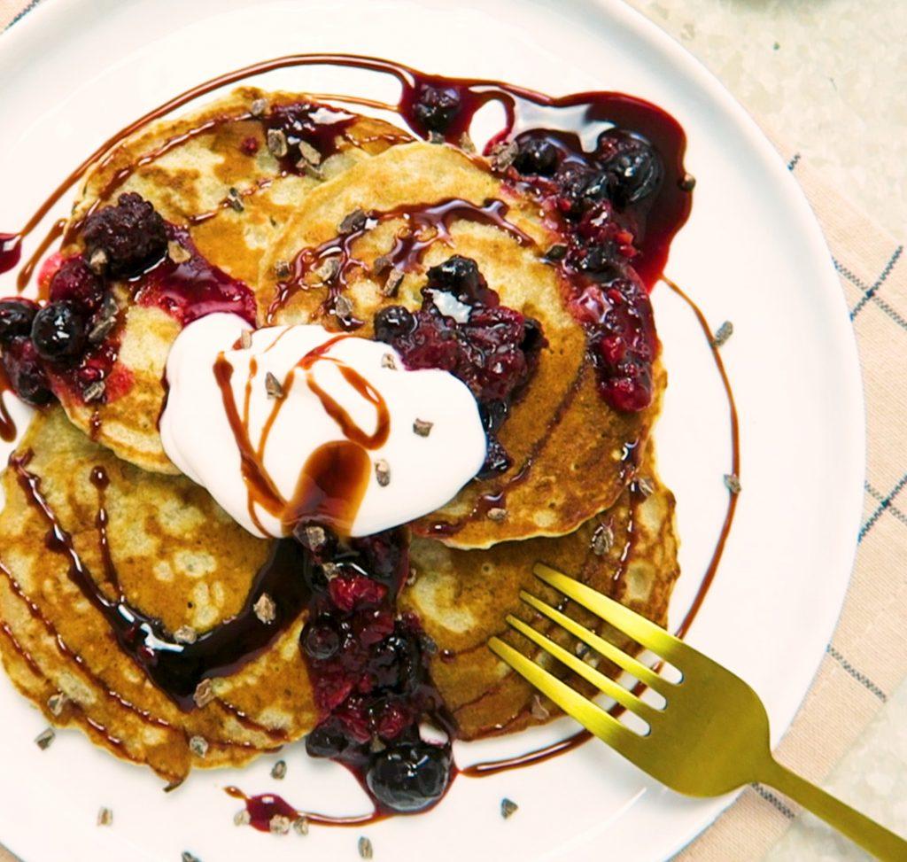 vegan ontbijt pannenkoeken