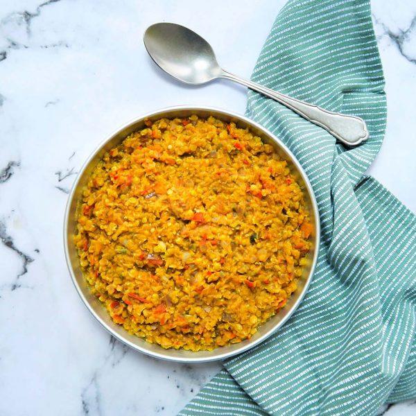 vegan red lentil dahl
