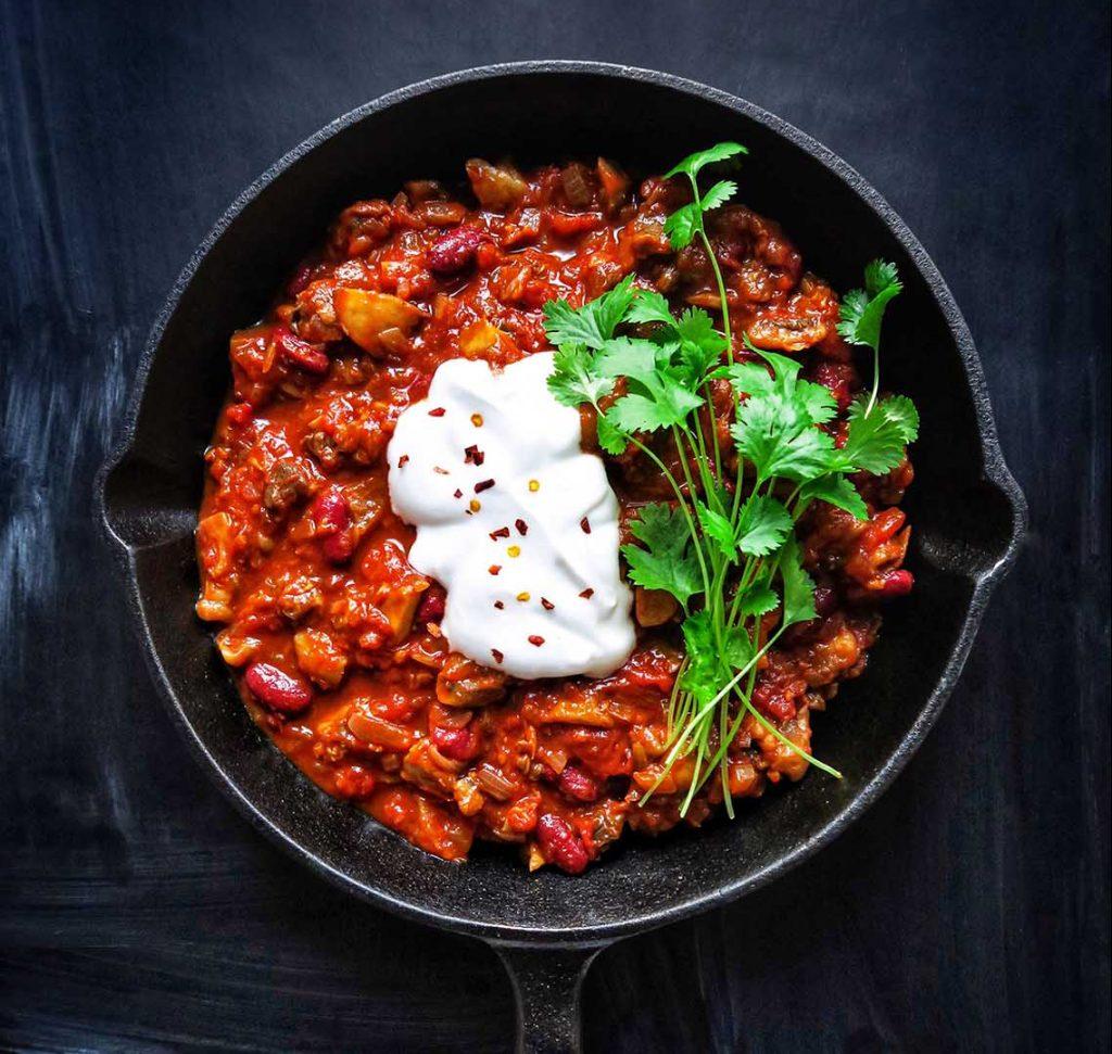 vegan chili sin carne
