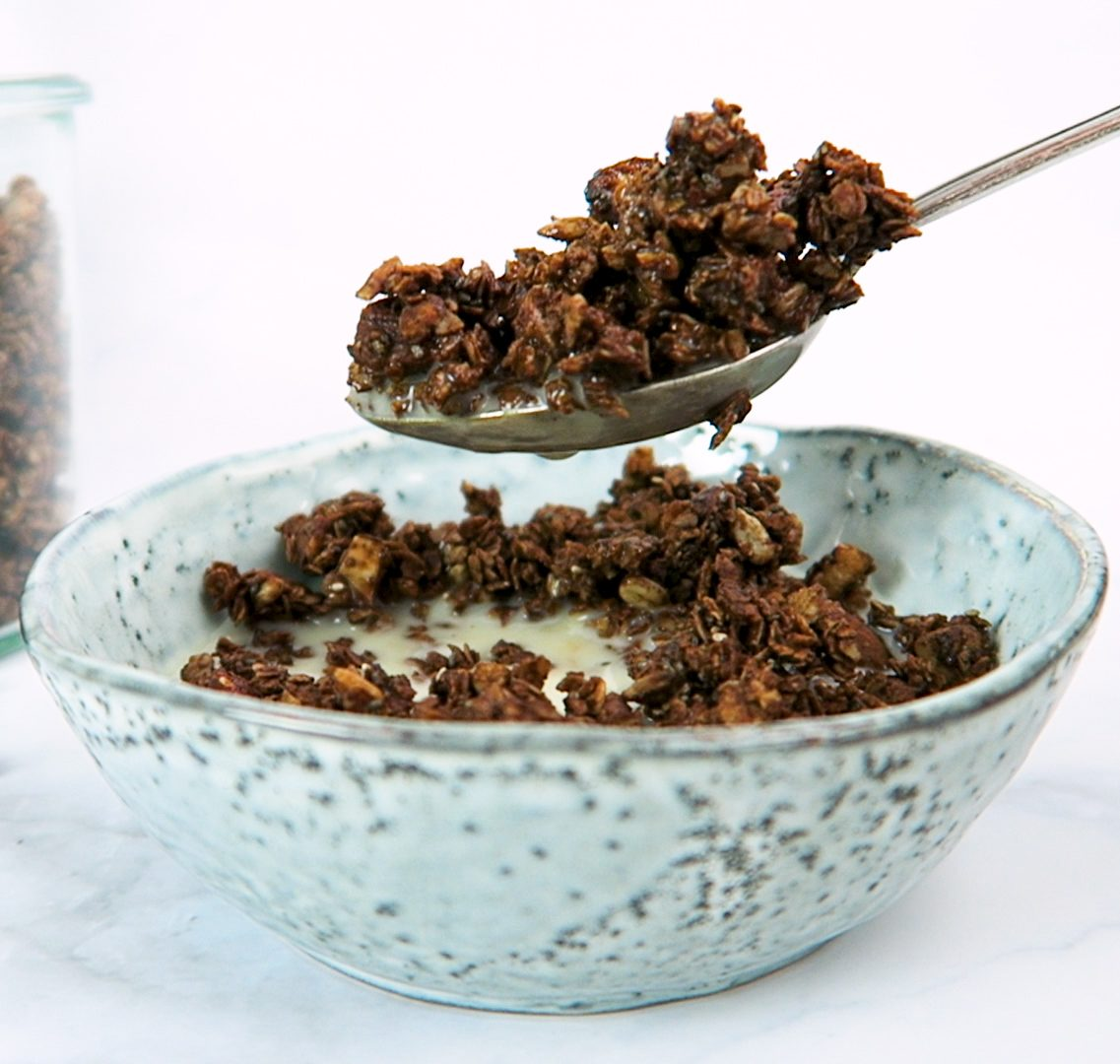 vegan salty chocolate granola