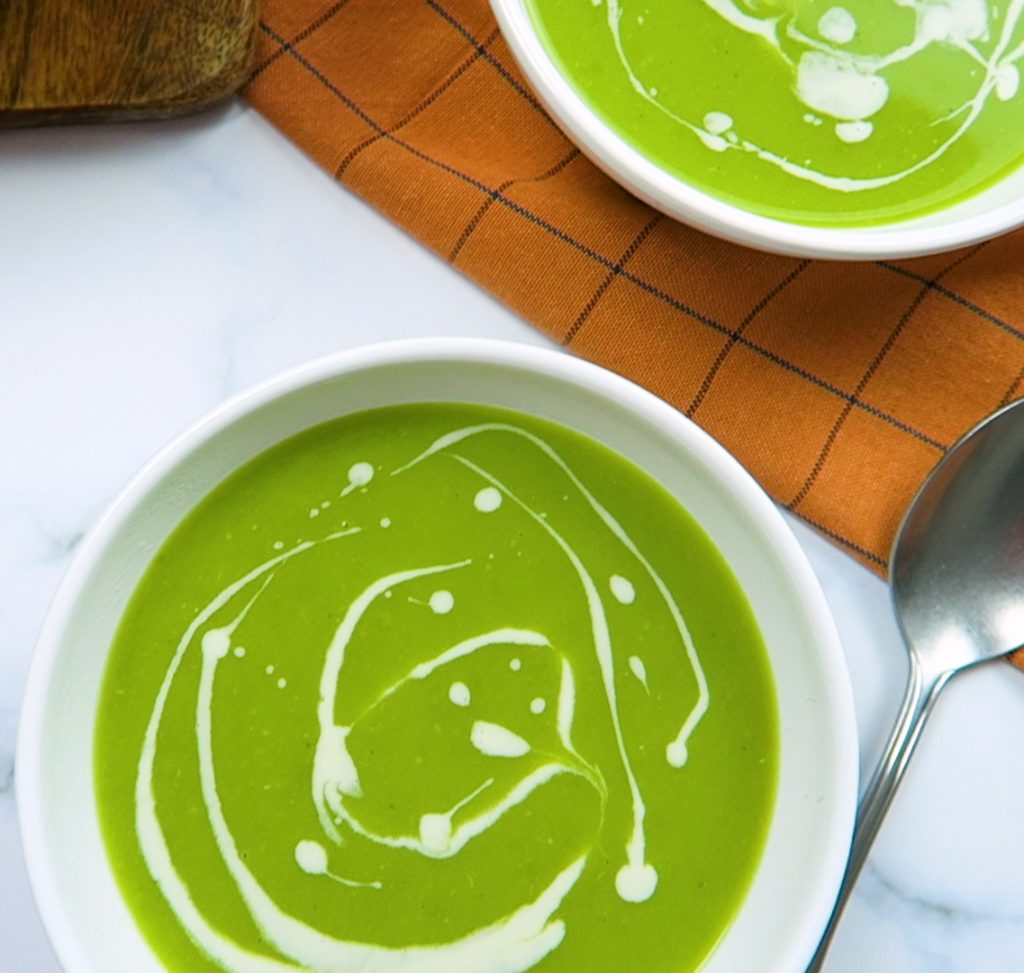 vegan green peas soup