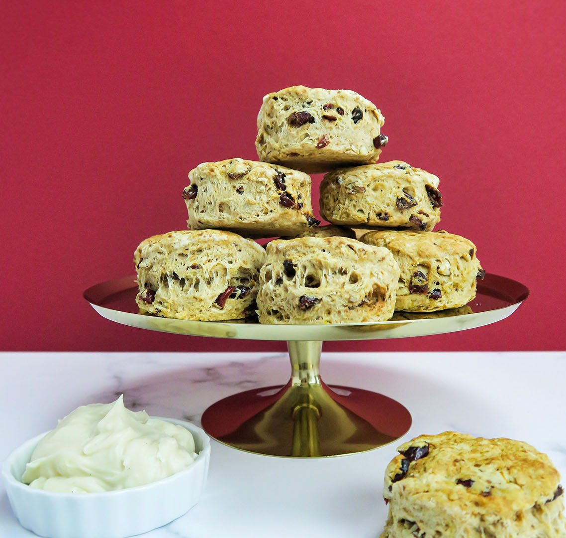 vegan winter scones