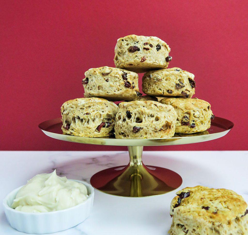vegan winter scones