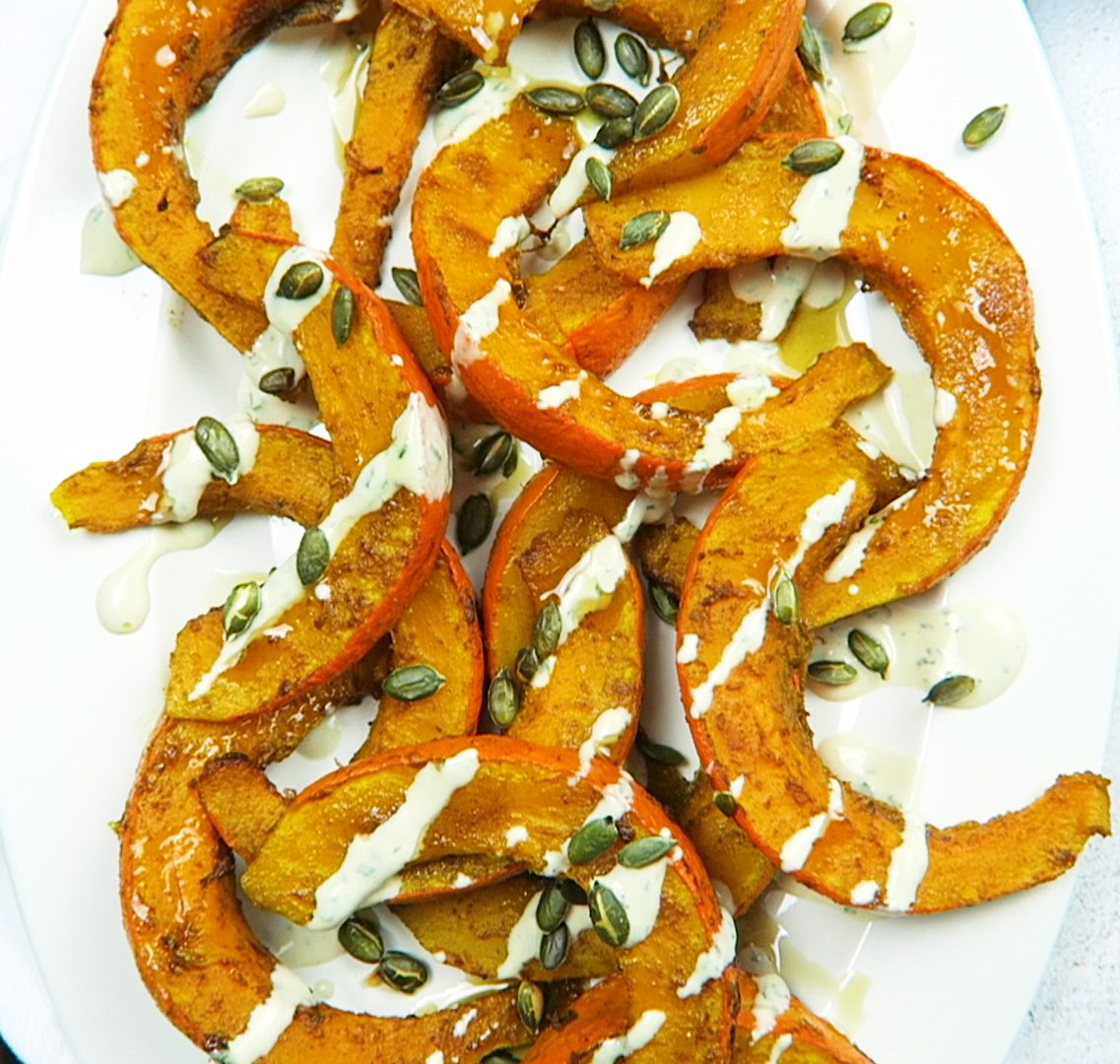 vegan spiced pumpkin