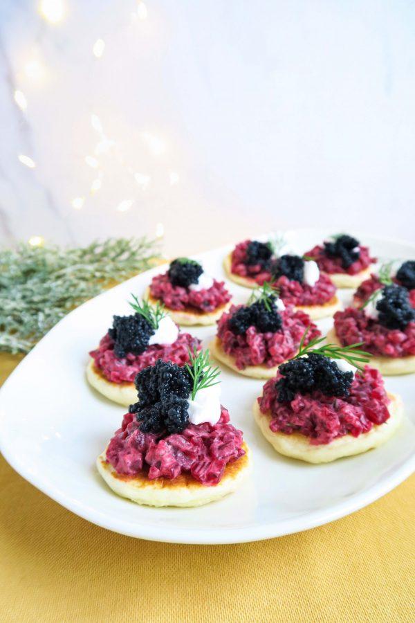 vegan bilnis met bietentartaar