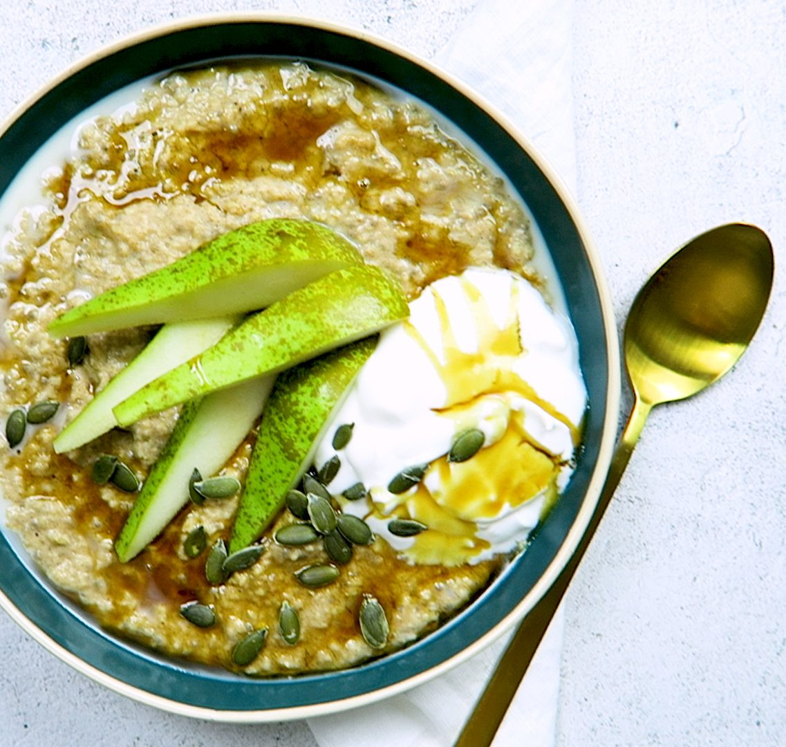 vegan chai porridge