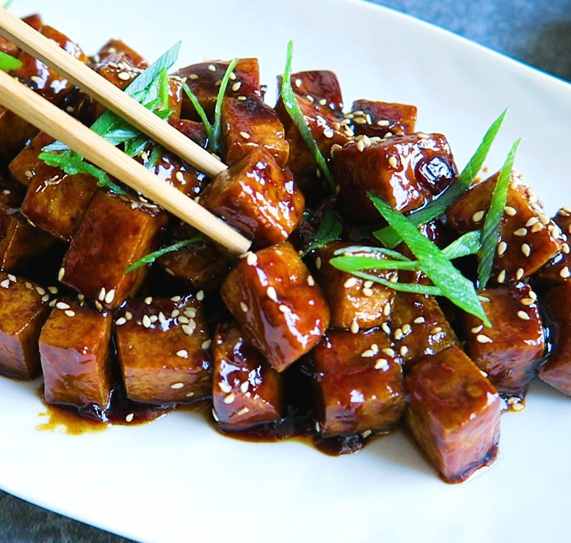vegan sticky tofu
