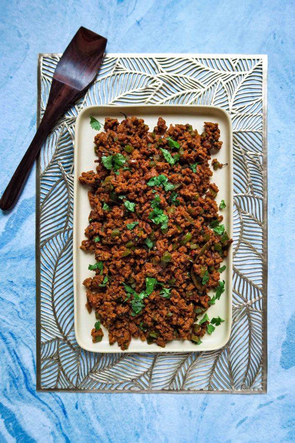 vegan indiase kheema recept