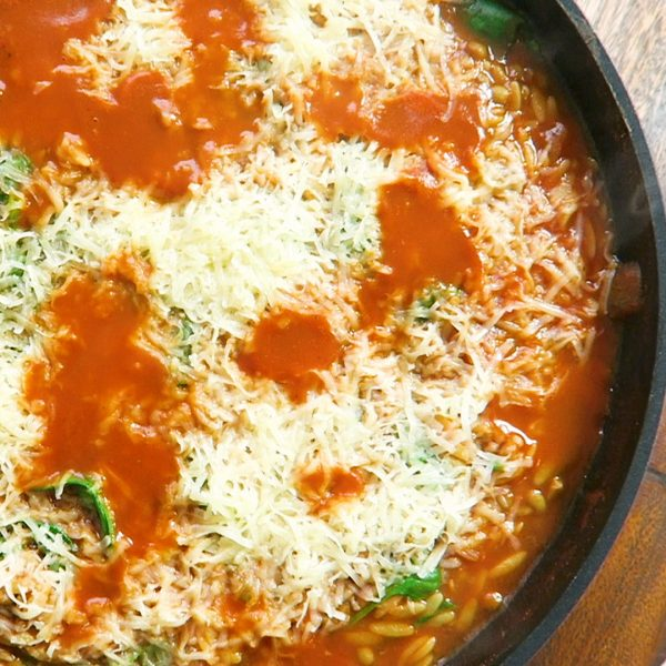 Vegan orzo pasta