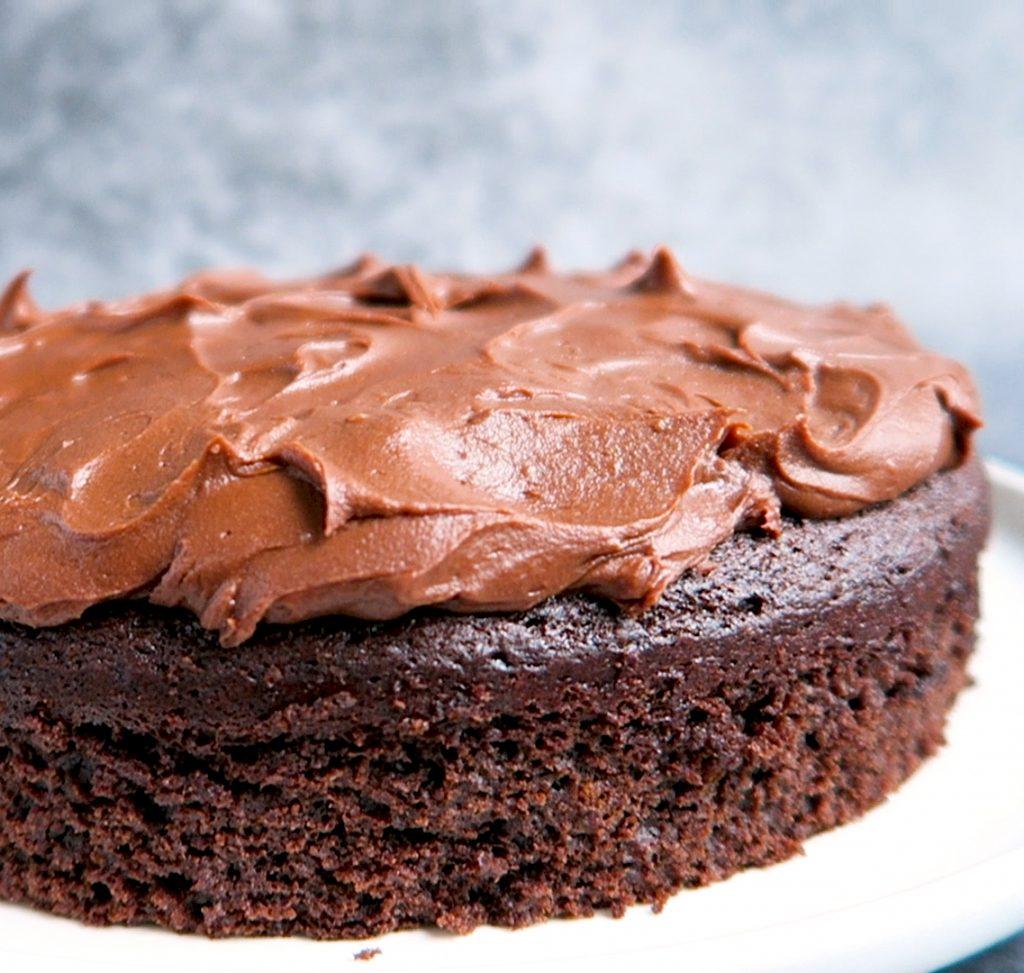 Vegan Chocoladetaart met frosting