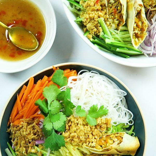 Vietnamese vegan Salade