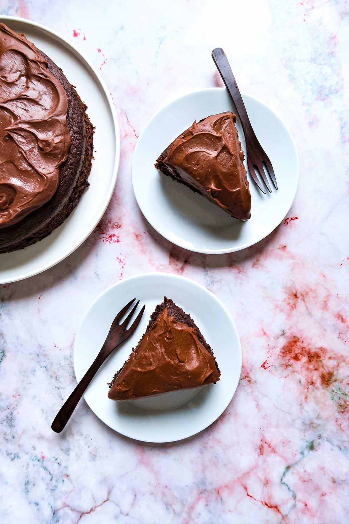 Chocoladetaart met frosting