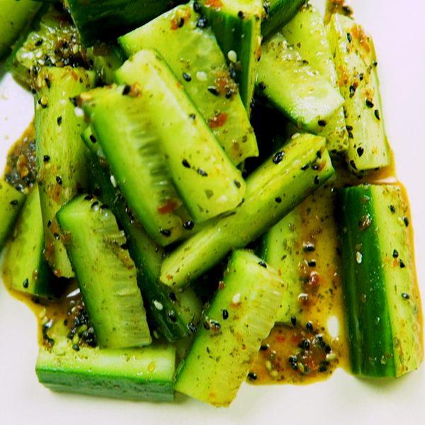 Frisse Komkommer Salade Vegan