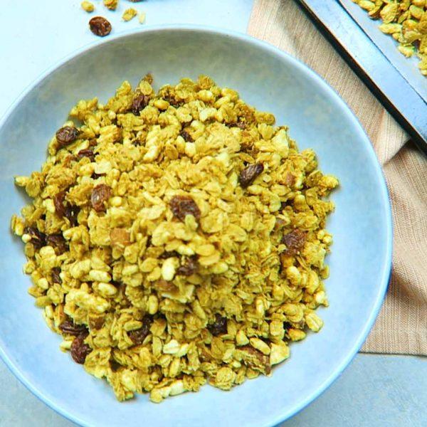 vegan ontbijt Granola maken